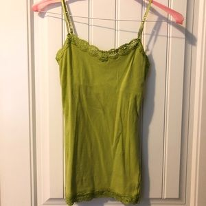 Aeropostale size S lime green cami built in bra